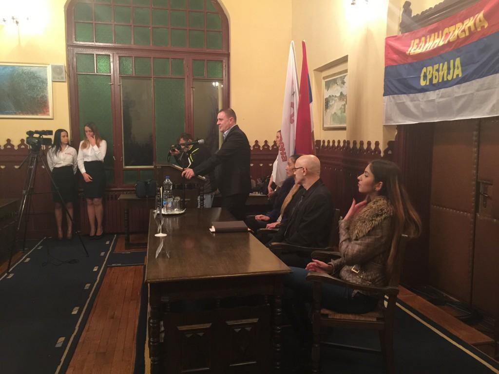 Rus, Jedinstvena Srbija, javna tribina i prijem novih članova, Apatin 2016