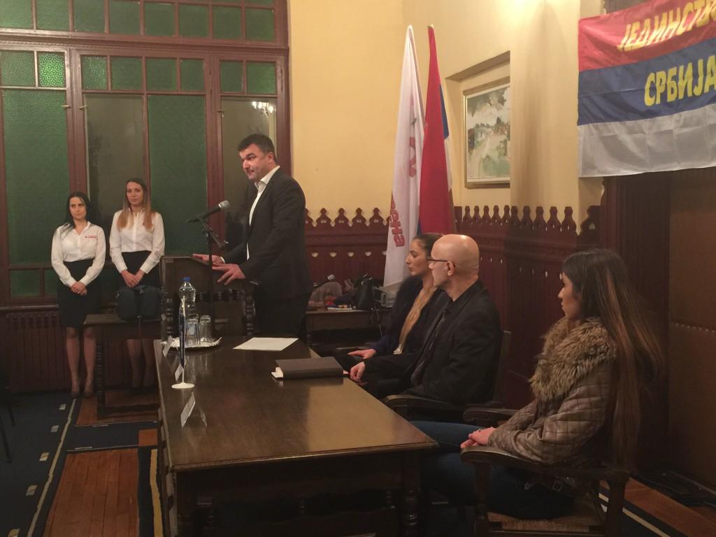 Kružević, Jedinstvena Srbija, javna tribina i prijem novih članova, Apatin 2016