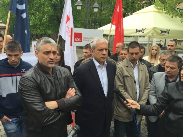 Čedomir Jovanović, Boris Tadić, Apatin 2016