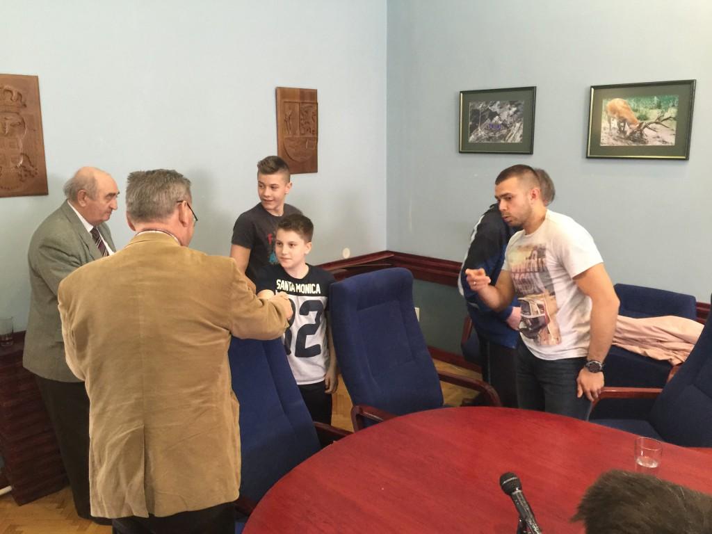 Prijem boksera kod Živorada Smiljanića, april 2016
