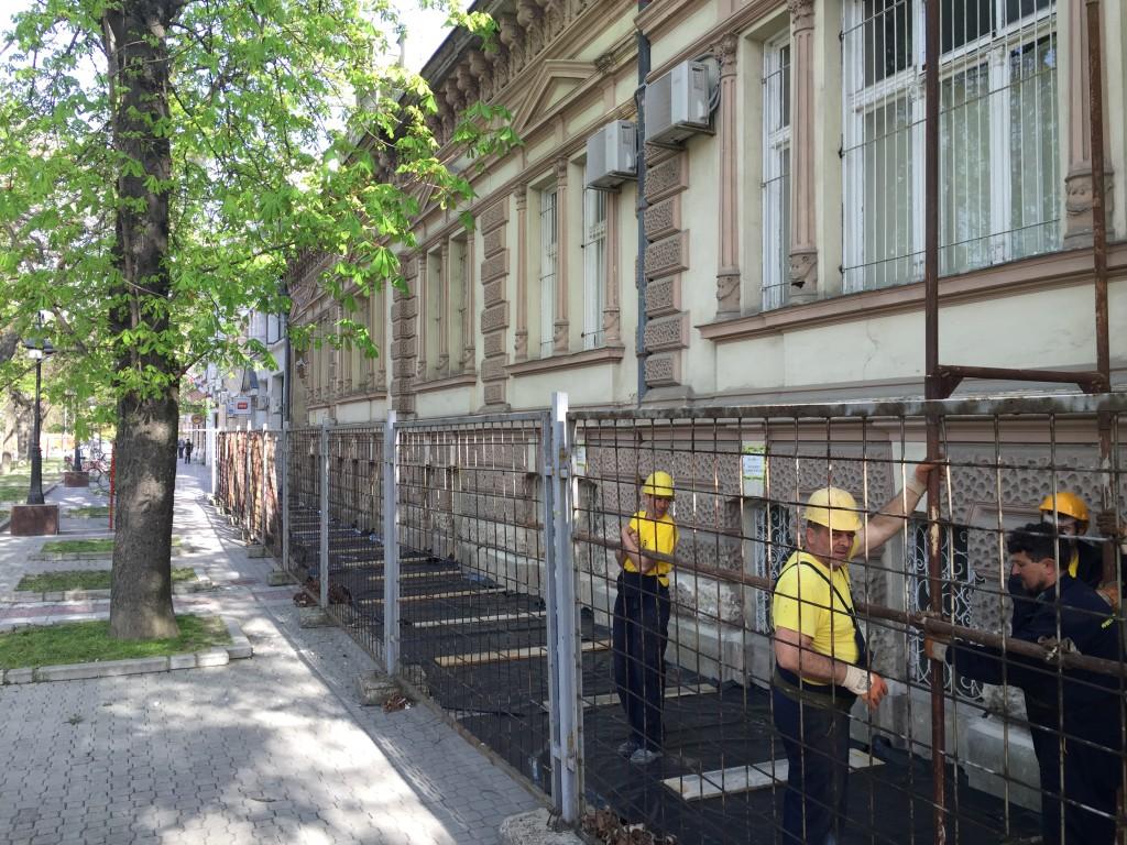 Fasada Pošte Srbije u Apatinu