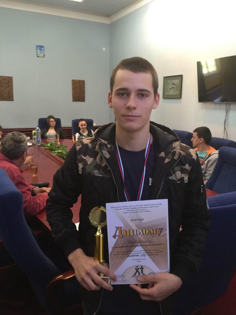 APATINSKA GRAĐEVINSKA I DRVOPRERAĐIVAČKA ŠKOLA NAJBOLJA U SRBIJI