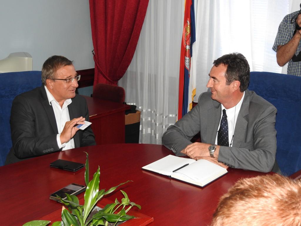 Radivoj Sekulić, Mihalj Njilaš , sastanak u opštini Apatin avgust 2016