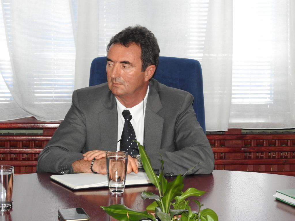 predsednik opštine Apatin,Radivoj Sekulić, avgust 2016