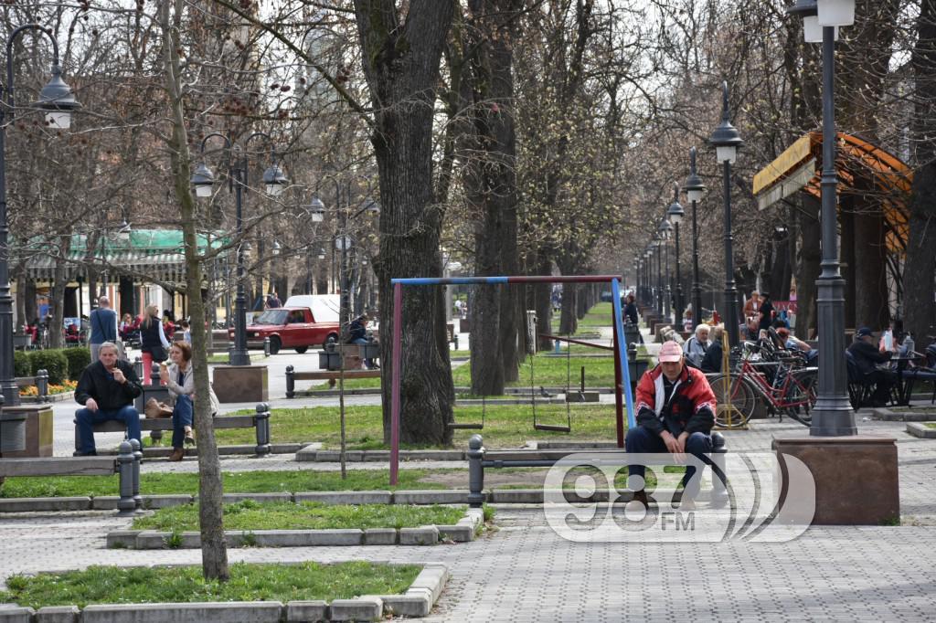 Apatin, glavna ulica , mart 2017