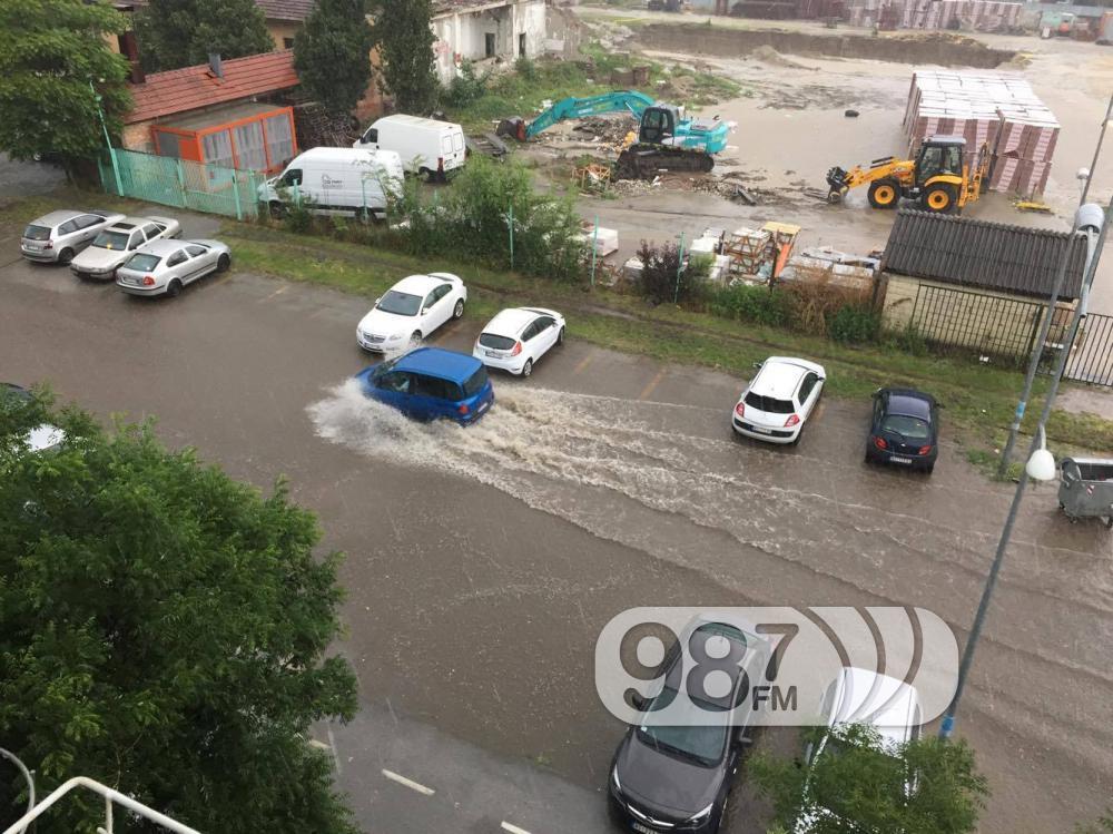 novi sad poplavljen, kisa, ulica