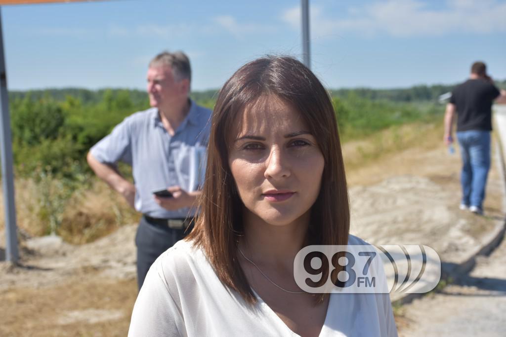 Maja Kuridza direktor slobodne zone, radovi na kanalizaciji u slobodnoj zoni, jun 2017 (2)