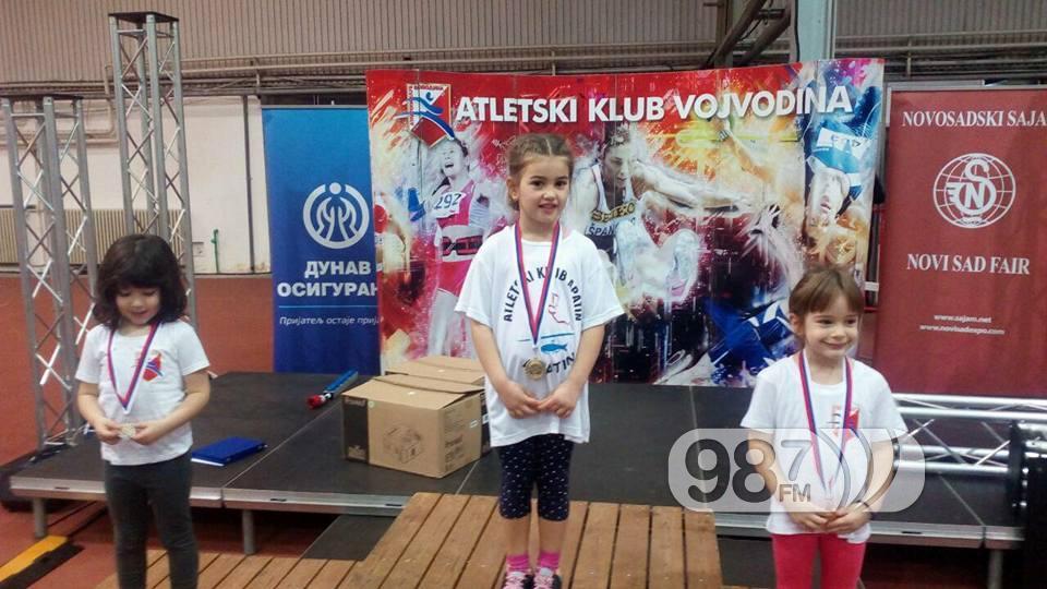 Jovana Kuridža najmlađa takmičarka i šampionka na 60 metara